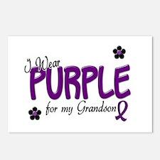 I Wear Purple For My Grandson 14 Postcards (Packag
