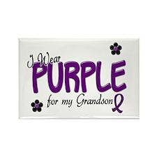 I Wear Purple For My Grandson 14 Rectangle Magnet