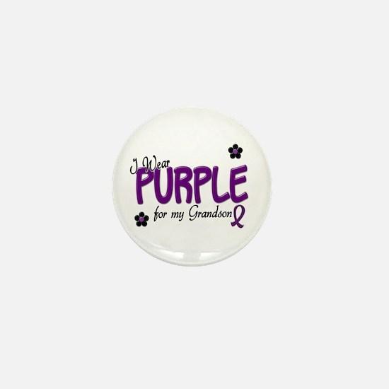 I Wear Purple For My Grandson 14 Mini Button