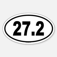 27.2 Oval Decal