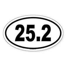 25.2 Oval Decal