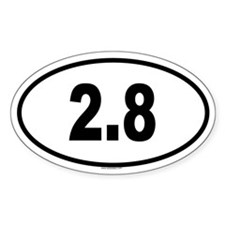 2.8 Oval Decal