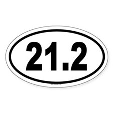 21.2 Oval Decal