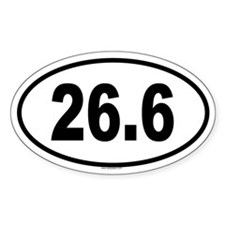 26.6 Oval Decal