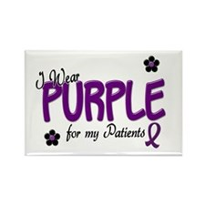 I Wear Purple For My Patients 14 Rectangle Magnet