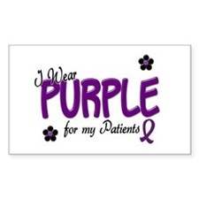 I Wear Purple For My Patients 14 Decal