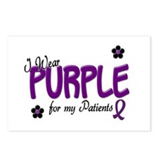 I Wear Purple For My Patients 14 Postcards (Packag