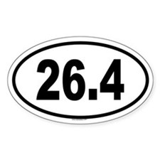 26.4 Oval Decal