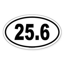 25.6 Oval Decal