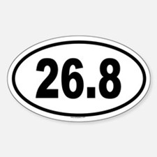 26.8 Oval Decal