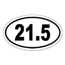 21.5 Oval Decal