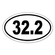 32.2 Oval Decal