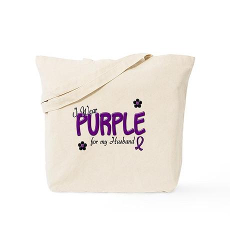 I Wear Purple For My Husband 14 Tote Bag