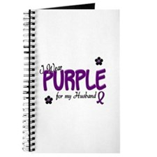 I Wear Purple For My Husband 14 Journal