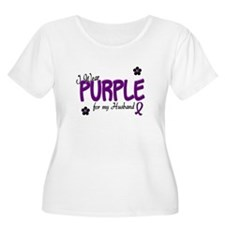 I Wear Purple For My Husband 14 T-Shirt