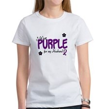 I Wear Purple For My Husband 14 Tee