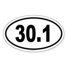 30.1 Oval Decal