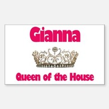 Gianna - Queen of the House Rectangle Decal