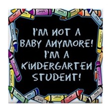 kindergarten student back to school Tile Coaster