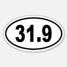 31.9 Oval Decal