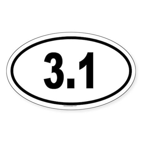 3.1 Oval Sticker
