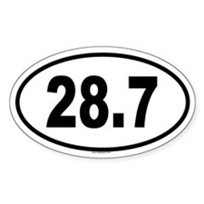 28.7 Oval Decal