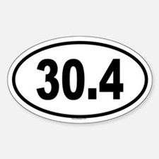 30.4 Oval Decal