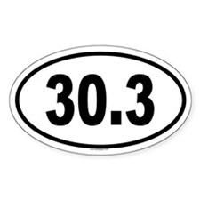 30.3 Oval Decal