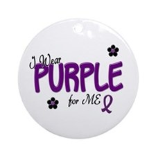 I Wear Purple For ME 14 Ornament (Round)