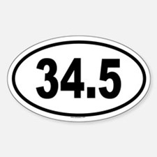 34.5 Oval Decal