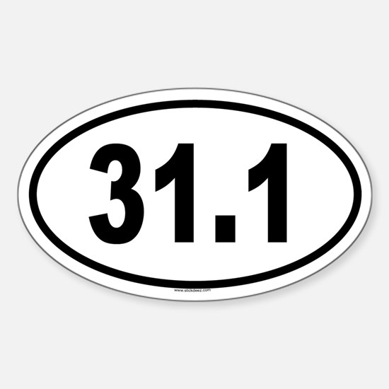 31.1 Oval Decal
