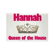 Hannah - Queen of the House Rectangle Magnet