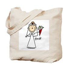 Stick Figure Bride Tote Bag