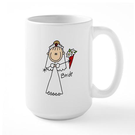 Stick Figure Bride Large Mug