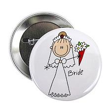 "Stick Figure Bride 2.25"" Button"