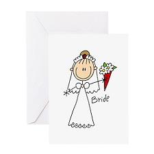 Stick Figure Bride Greeting Card