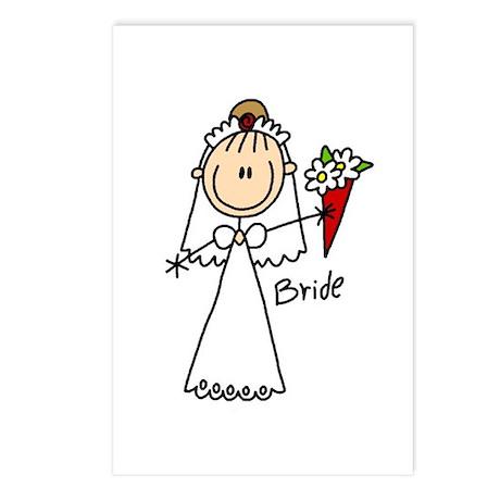 Stick Figure Bride Postcards (Package of 8)