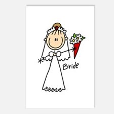 Stick Figure Bride Postcards (Package of 8)