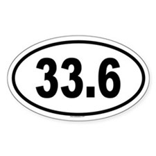 33.6 Oval Decal
