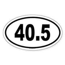 40.5 Oval Decal