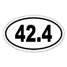 42.4 Oval Decal