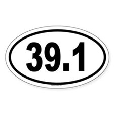 39.1 Oval Decal