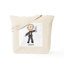 Stick Figure Groom Tote Bag