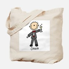 Stick Figure Groom Tote Bag
