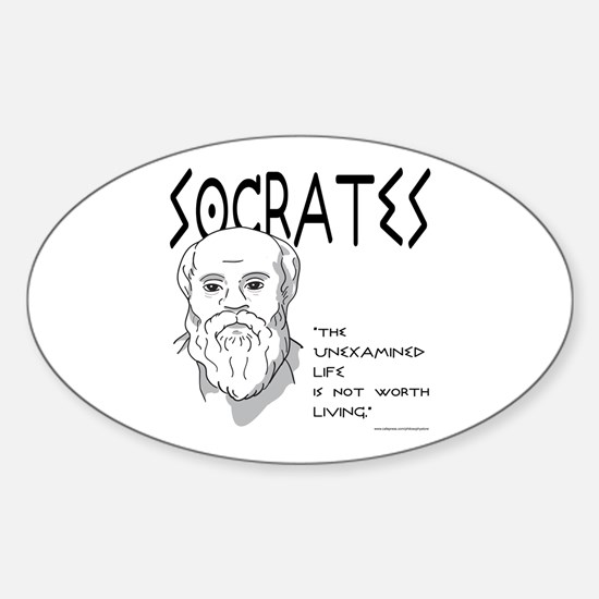 Socrates Oval Decal