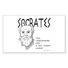 Socrates Rectangle Decal