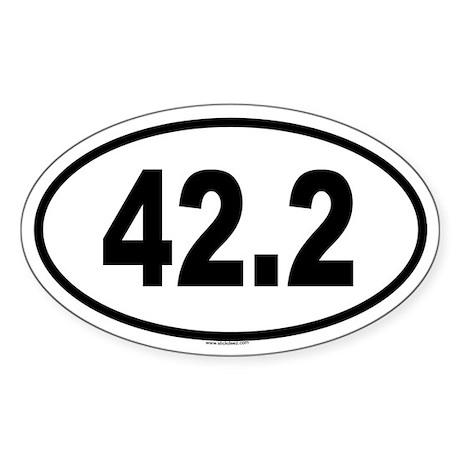 42.2 Oval Sticker