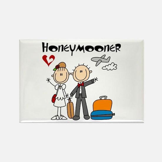 Stick Figures Honeymooner Rectangle Magnet Magnets