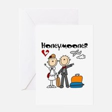 Stick Figures Honeymooner Card Greeting Cards