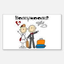Stick Figures Honeymooner Decal